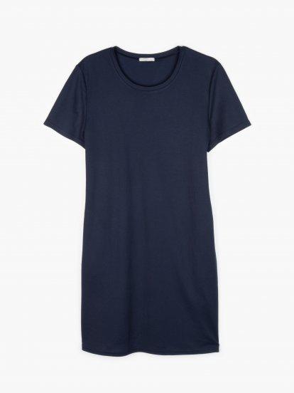 Základní strečové šaty s kapsami