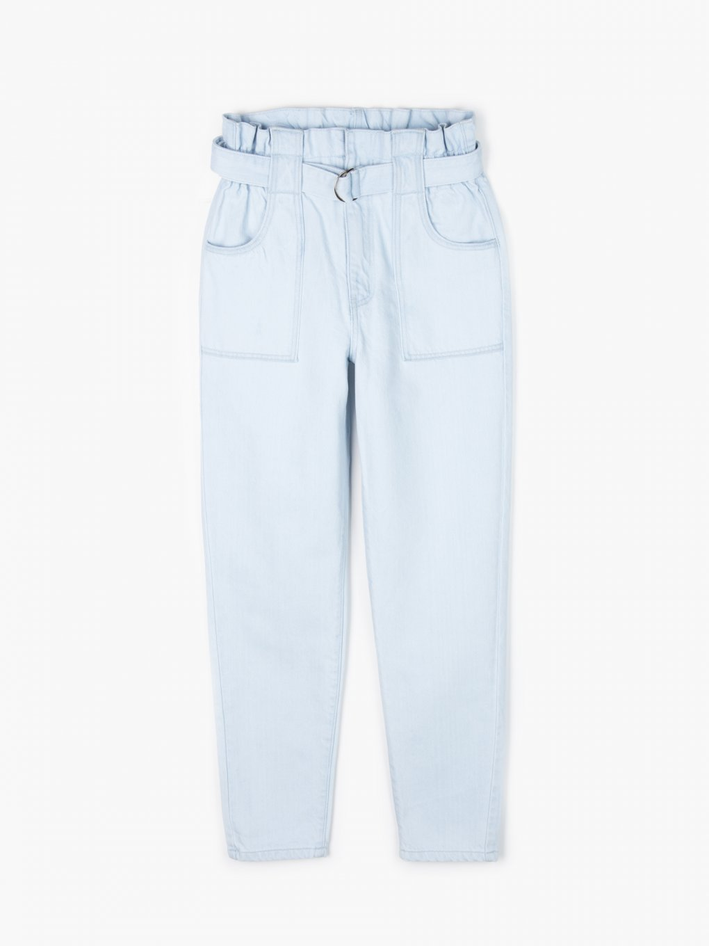 Mom fit jeans with belt