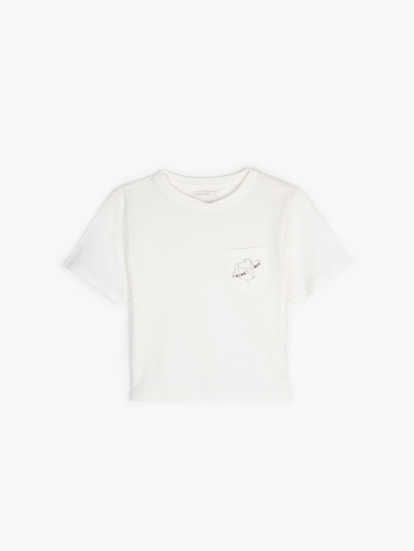 Krátké bavlněné tričko
