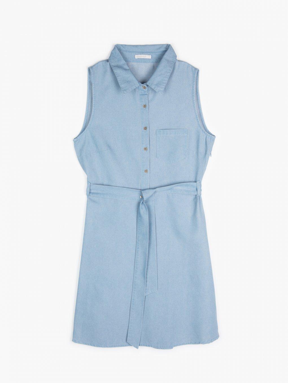 Denimové šaty bez rukávov