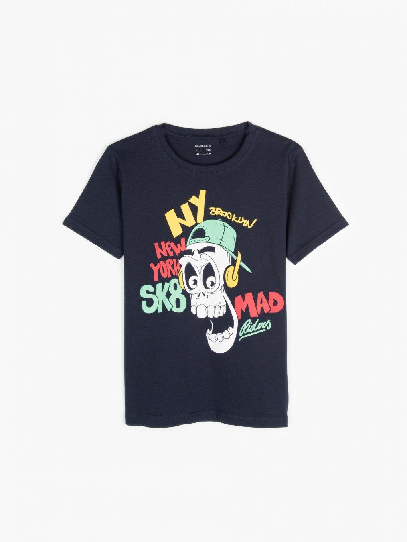 Bawełniana koszulka z nadrukiem graficznym