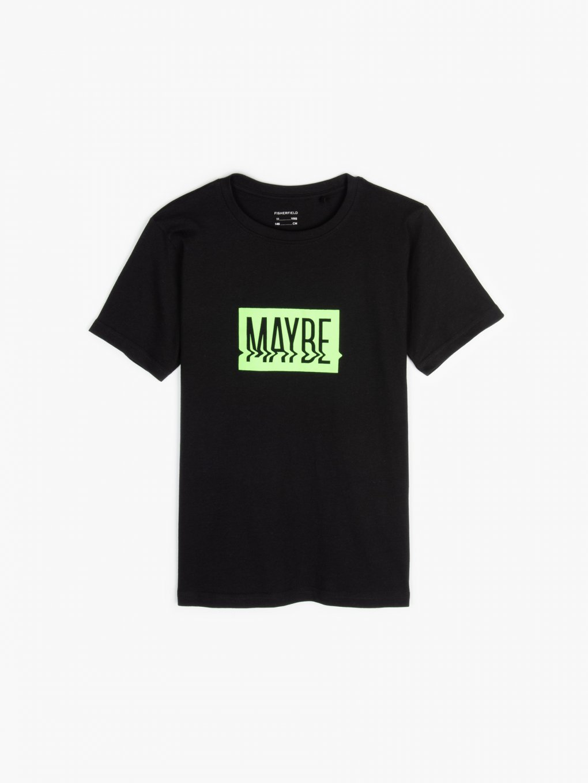 Slogan cotton t-shirt