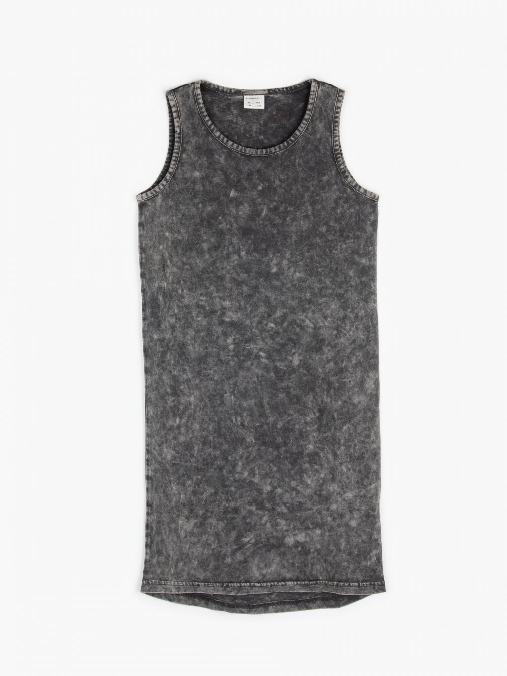 Acid wash sleeveless dress