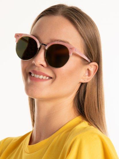 Kulaté brýle se zrcadlovým efektem