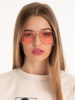 Okulary przeciwsłoneczne typu Aviator z kolorowymi szkłami