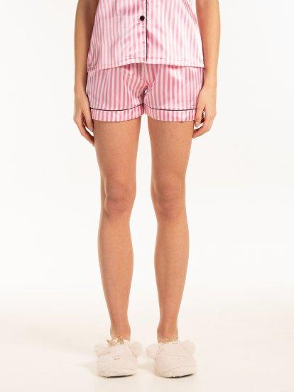 Saténové pyžamové šortky