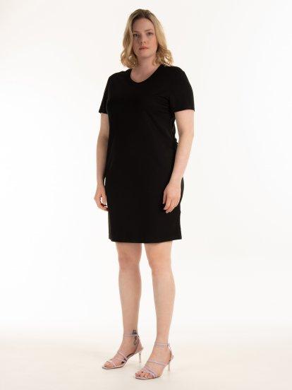 Základné strečové šaty s vreckami