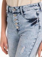 Džínsy skinny s dierami