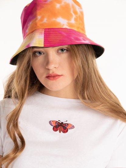 Batikowa czapka dwustronna
