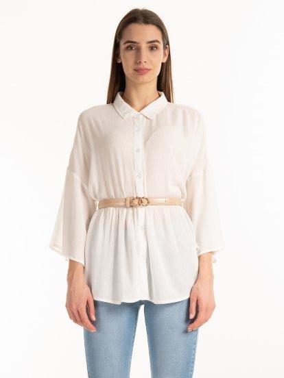 Viscose peplum blouse