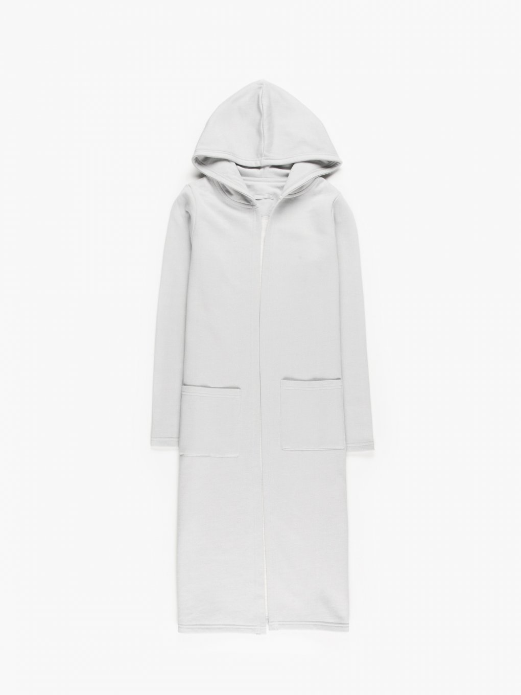 Longline hoodie with pockets