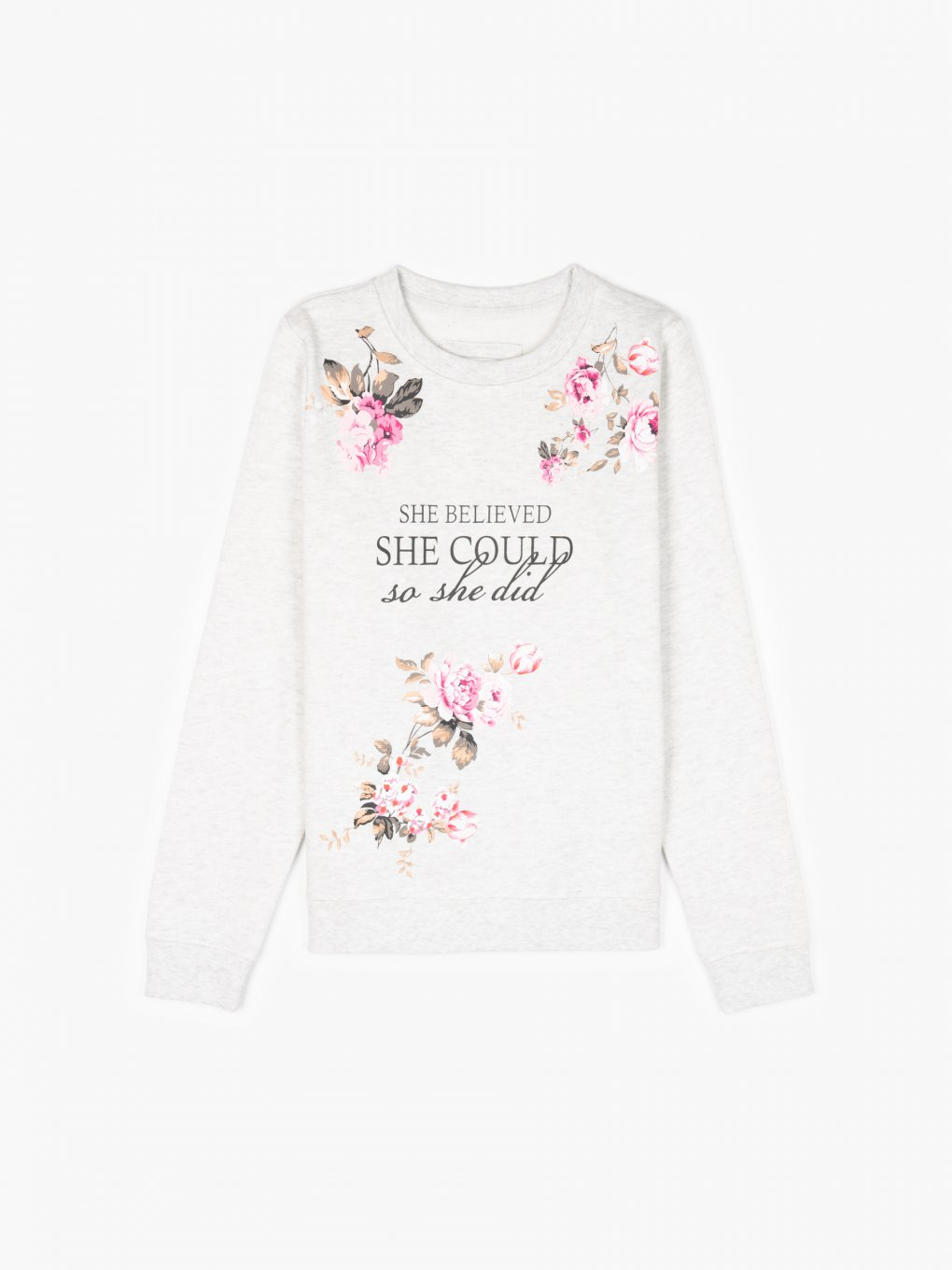 Sweatshirt with floral print