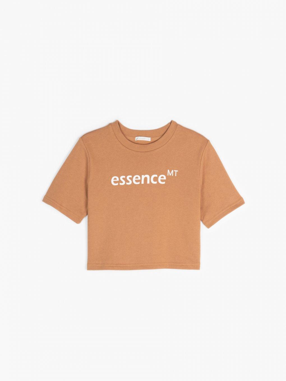 Mikinové tričko s nápisom