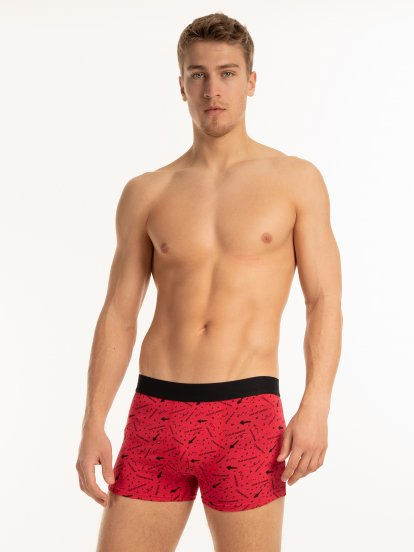 Printed boxers