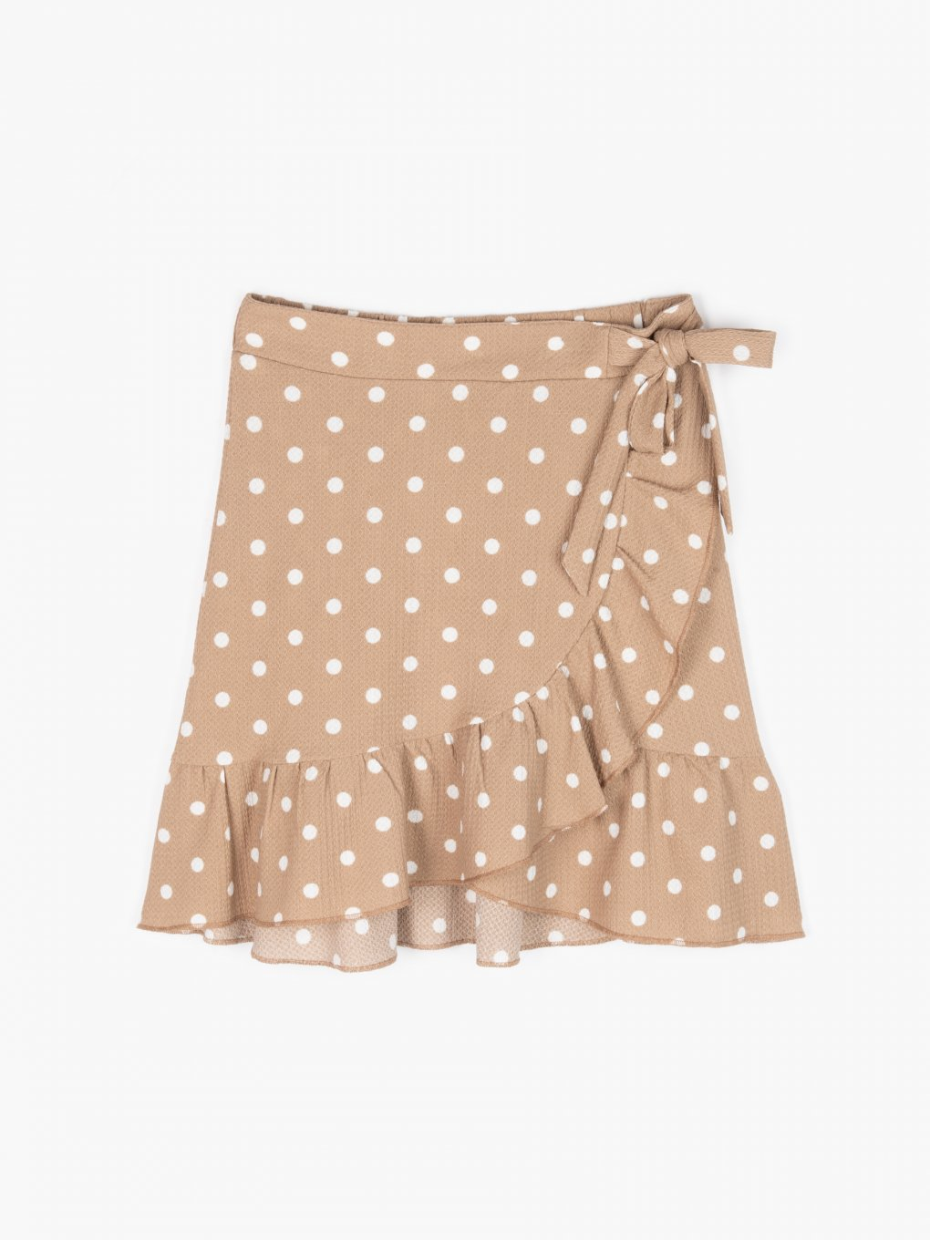 Polka dot mini wrap skirt