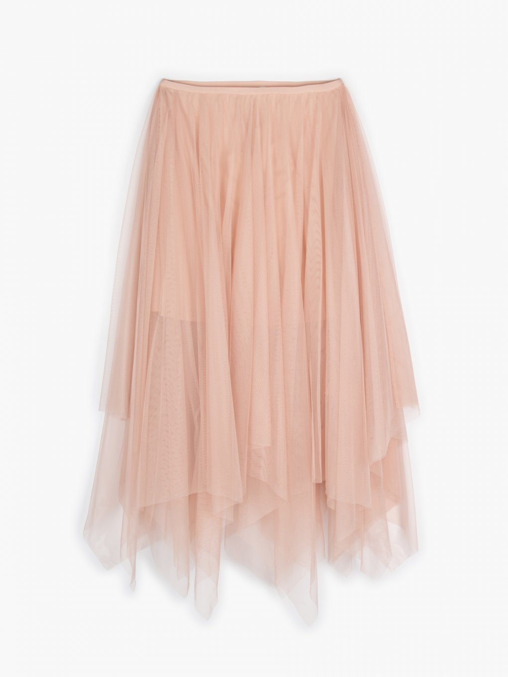 Asymmetric tulle skirt