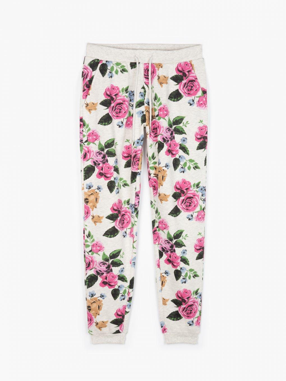 Floral print sweatpants