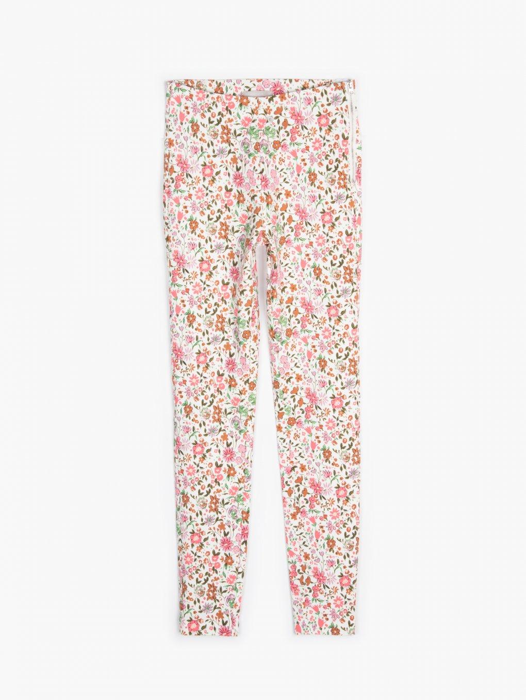 Floral strechy pants