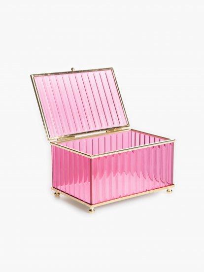 Sklenená dekoračná krabička