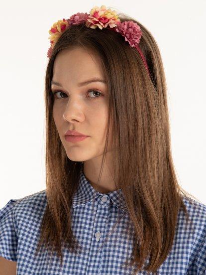 Čelenka do vlasů s květy