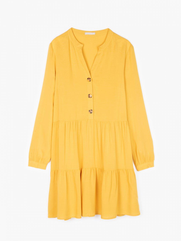 Viscose ruffled blouse
