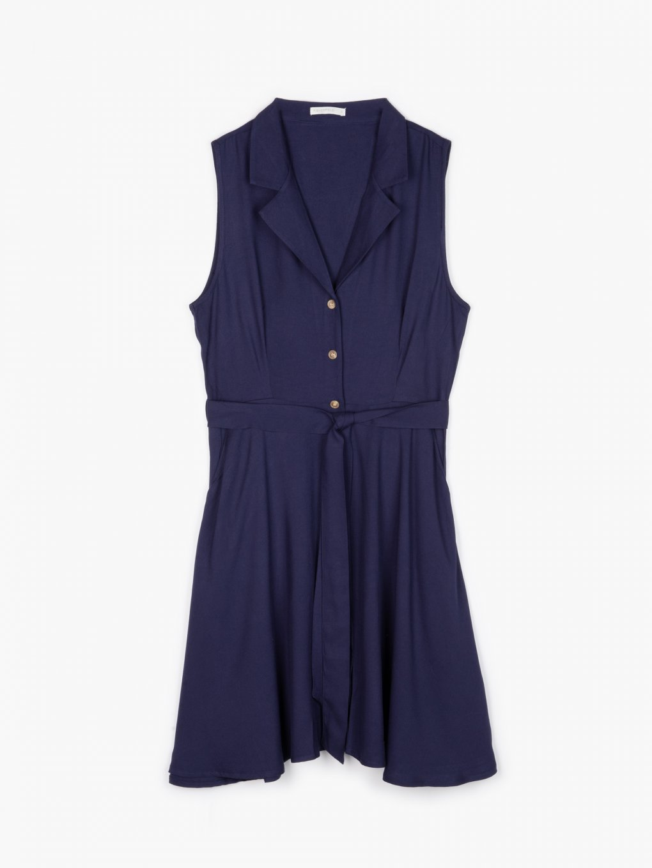 Viscose button down dress