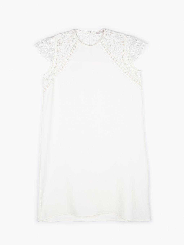 Rovné šaty s krajkou