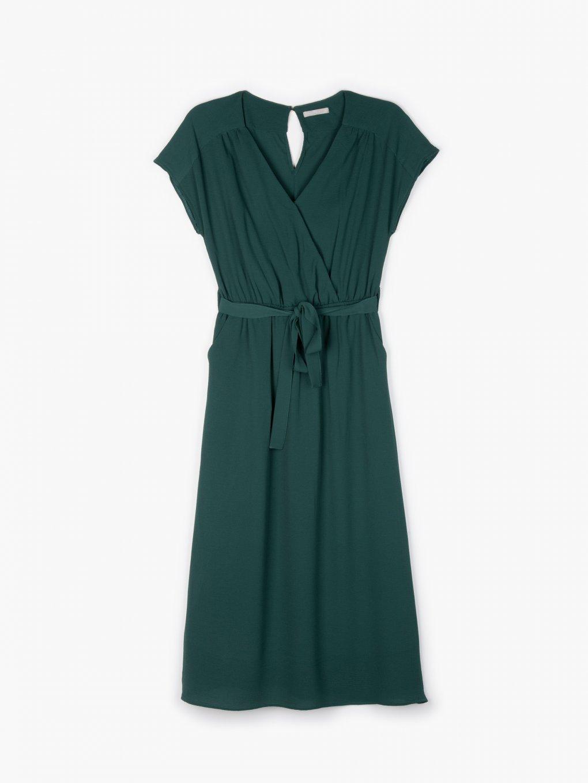 Plain midi dress