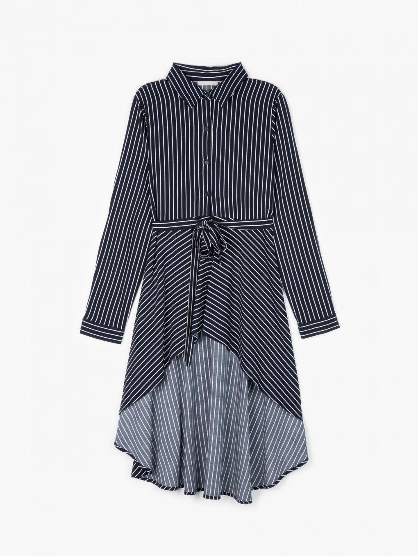 Striped peplum blouse