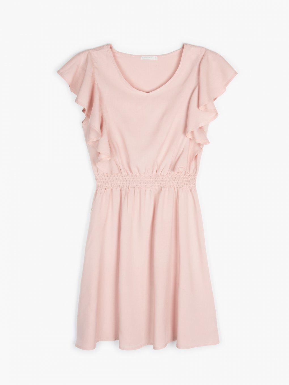 Viscose ruffle dress
