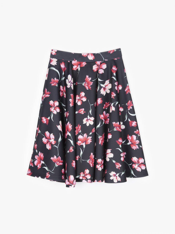 Spódnica w kwiatowy print