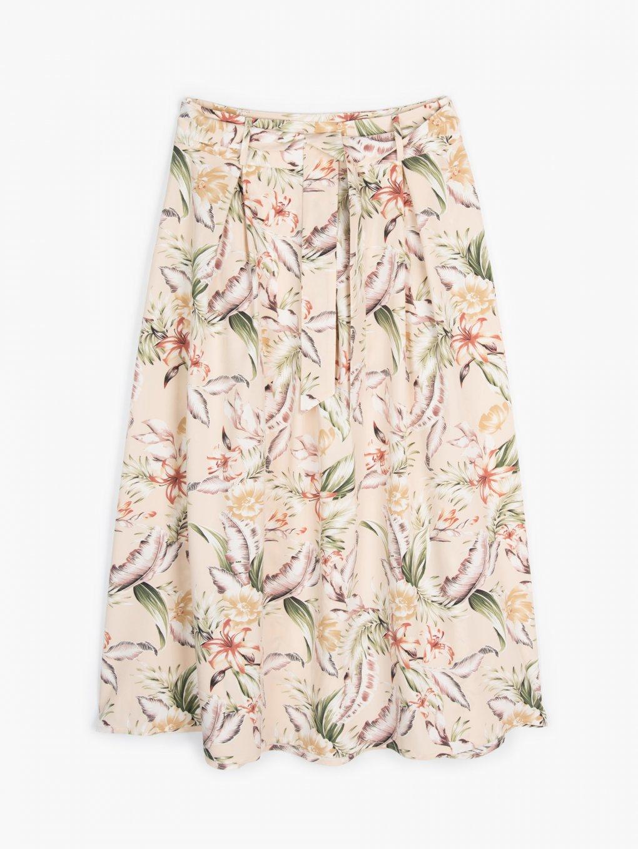 Długa spódnica w kwiatowy print