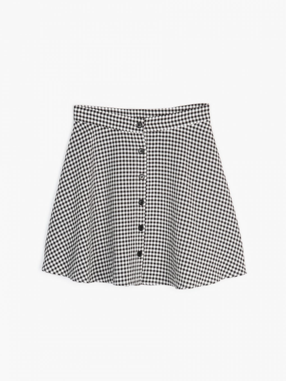 Mini spódnica zapinana na guziki
