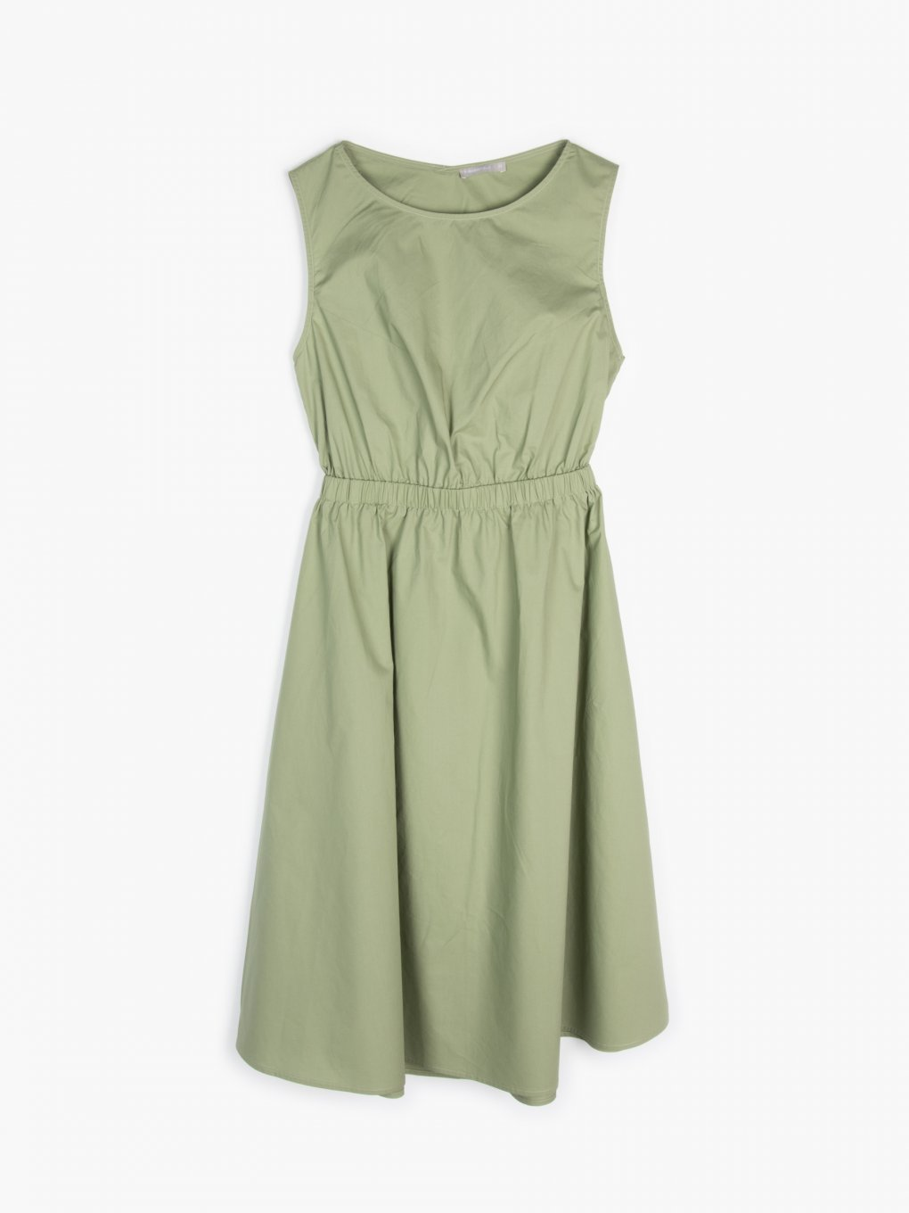 Cotton dress with back cut out