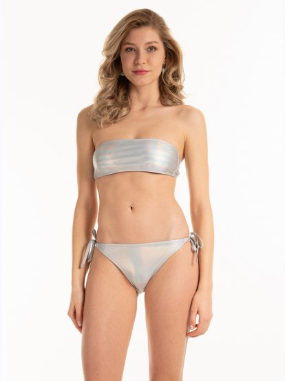 Holograficzne bikini bandeau