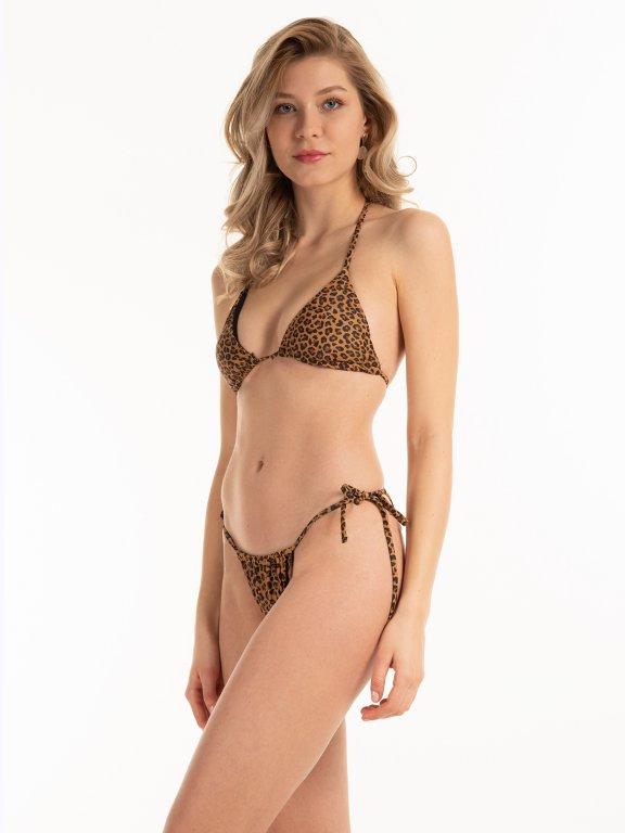 Trójkątny top od bikini w zwierzęcy wzór
