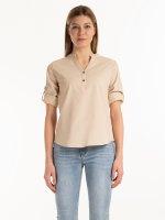 Linen blend blouse