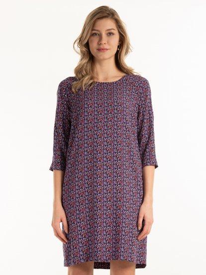 Potištěné viskózové šaty