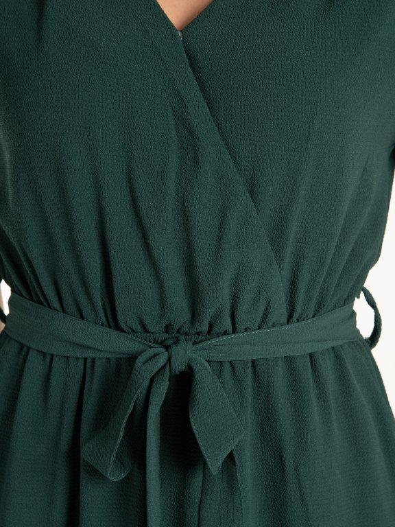 Sukienka midi w jednolitym kolorze