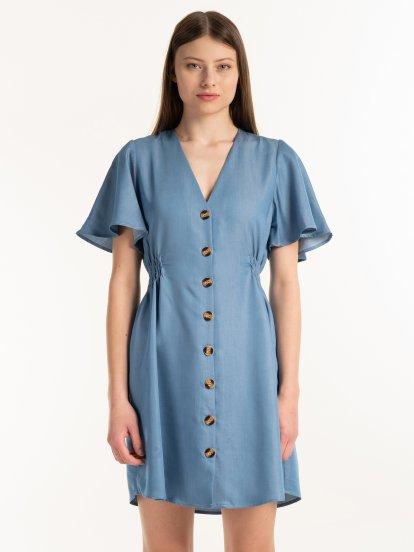 Šaty so zapínaním na gombíky