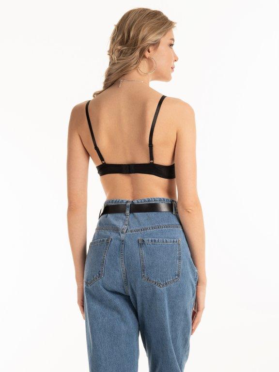 Plain bra