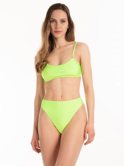 High waist bikini bottom