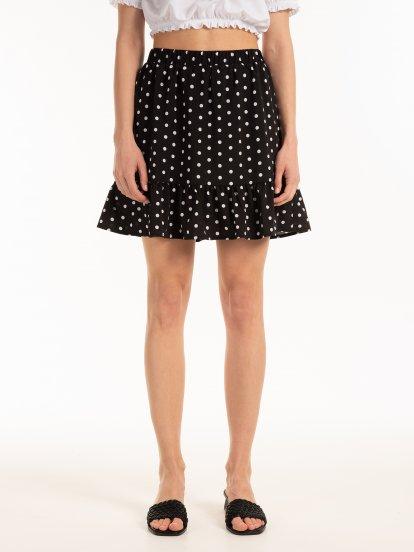 Mini sukňa s volánom