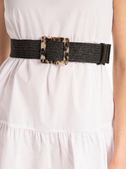 Raffia belt