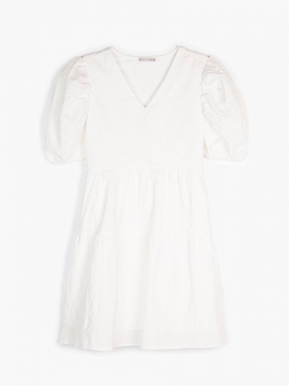 Šaty s nabíraným rukávem
