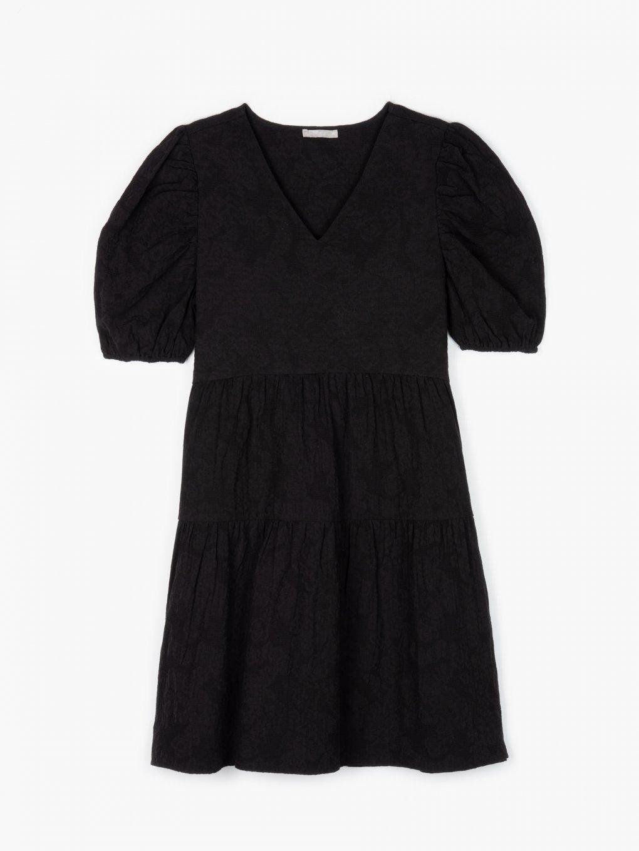 Sukienka z marszczonymi rękawami