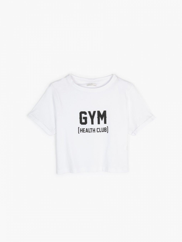 Bavlněné krátké tričko s potiskem
