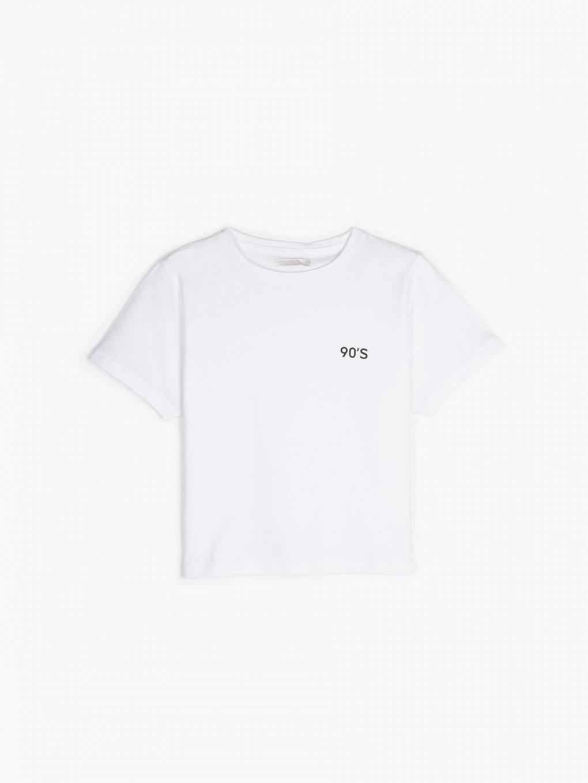 Krátke bavlnené tričko s potlačou