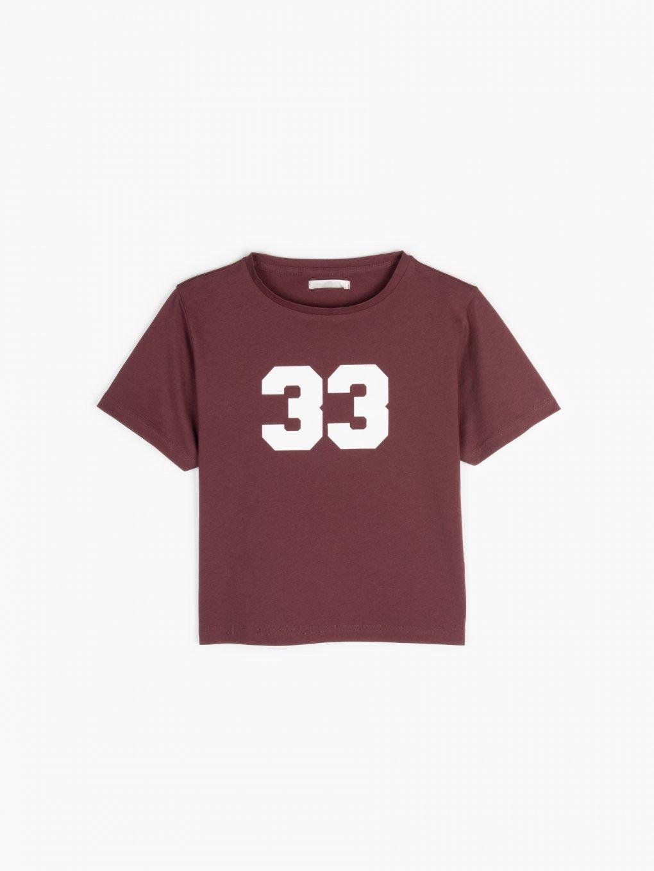 Krátké bavlněné tričko s potiskem
