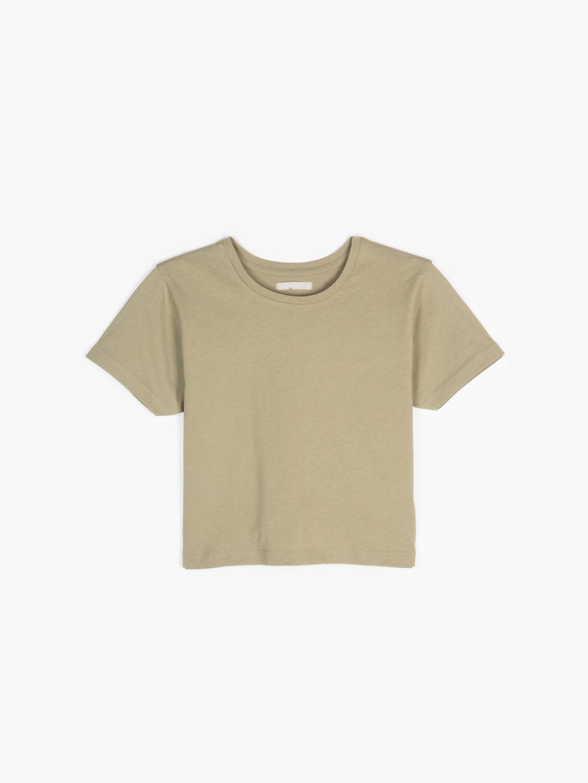 Basic cotton crop top